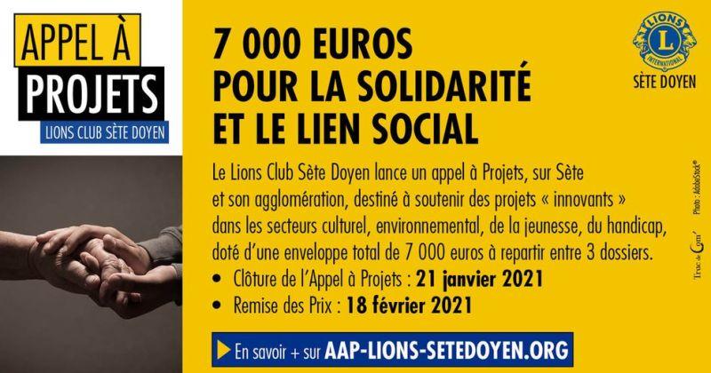 Appel à projet Lions Club Sète Doyen