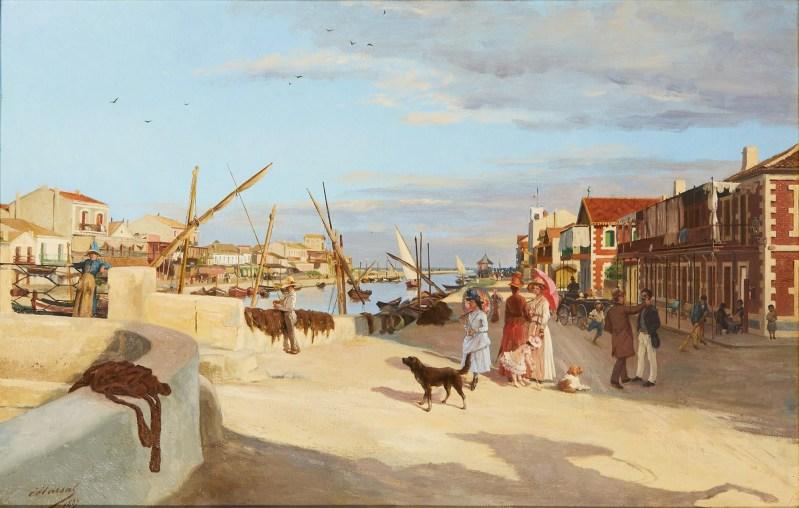 Montpellier Nouvelle acquisition du Musée Fabre - Palavas-Les-Flots d'Edouard-Antoine Marsal