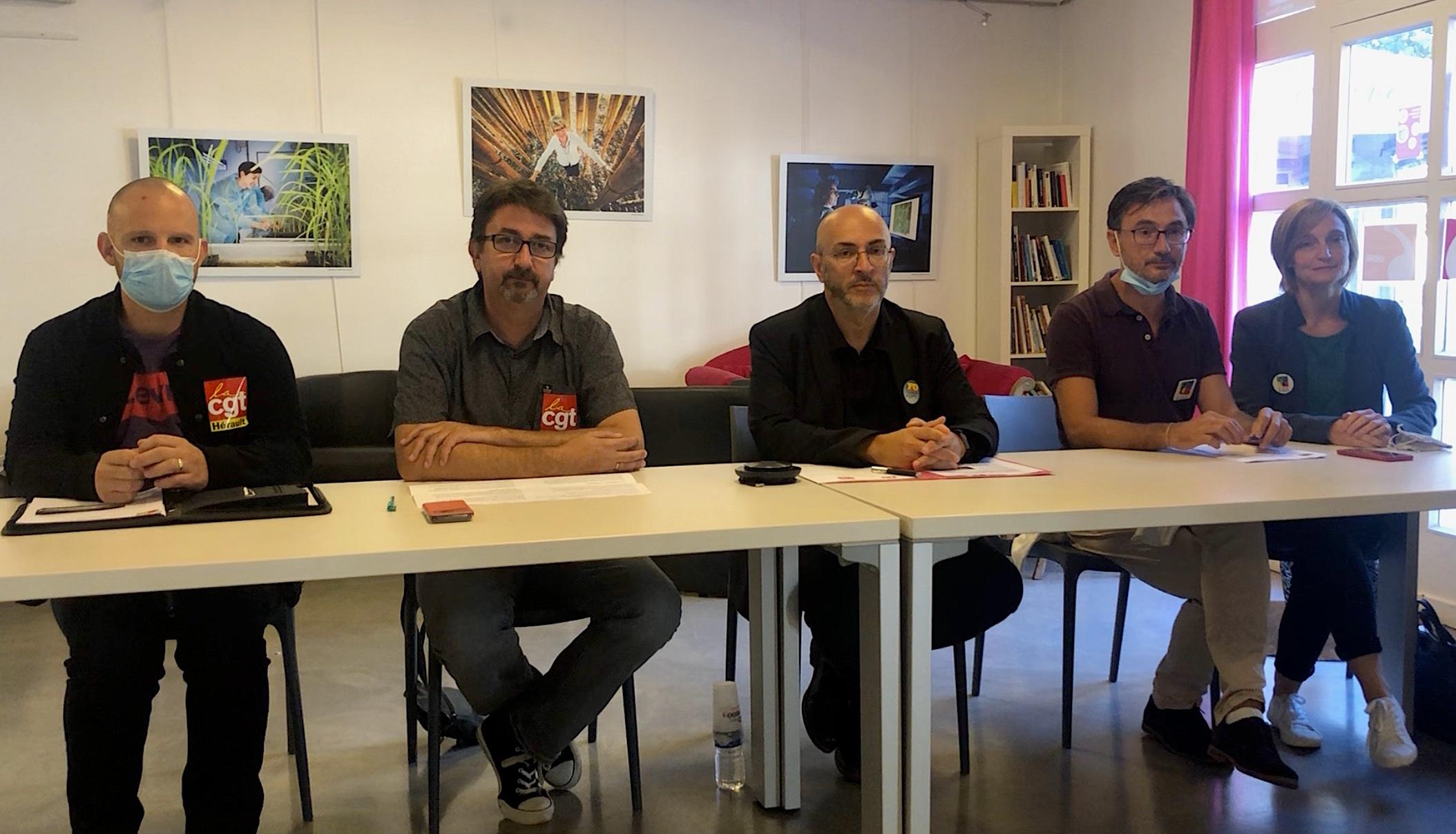 Conférence de presse CGT, FO FSU Septembre 2021 (©JPV)