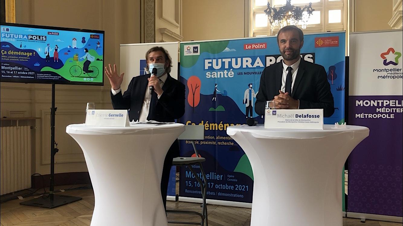 Futurapolis Santé 2021, Étienne Gernelle, Michaël Delafosse ©JPV