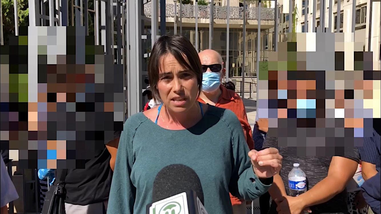 """Sophie Mazas, conférence de presse : """"À Montpellier les Roms sont expulsés par le feu"""" - 17 septembre 2021 (©JPV)"""