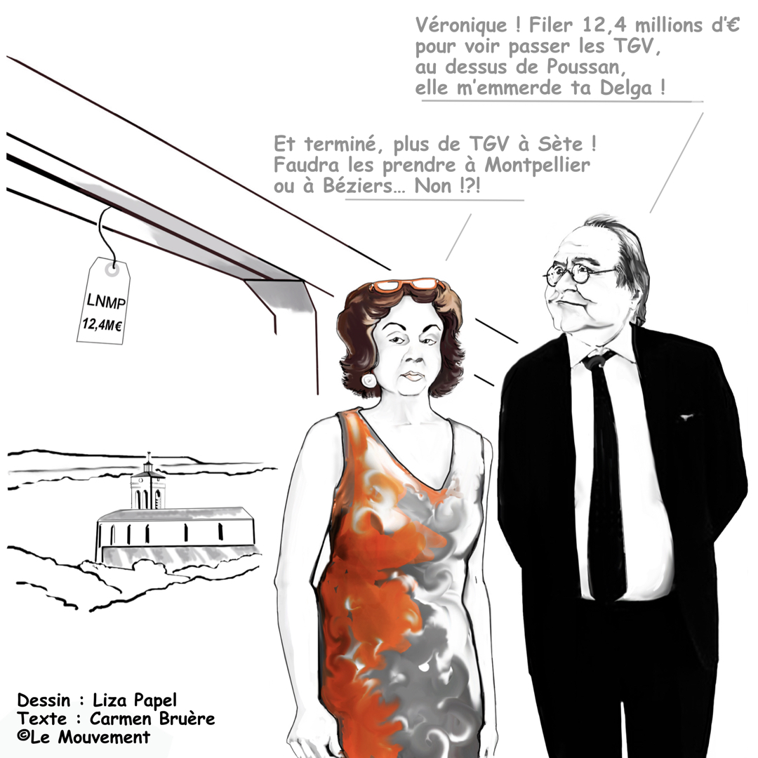 #Sète : François Commeinhes et Véronique Calueba s'interrogent sur la Ligne Nouvelle Montpellier Perpignan ©Lisa Papel et Carmen Bruère