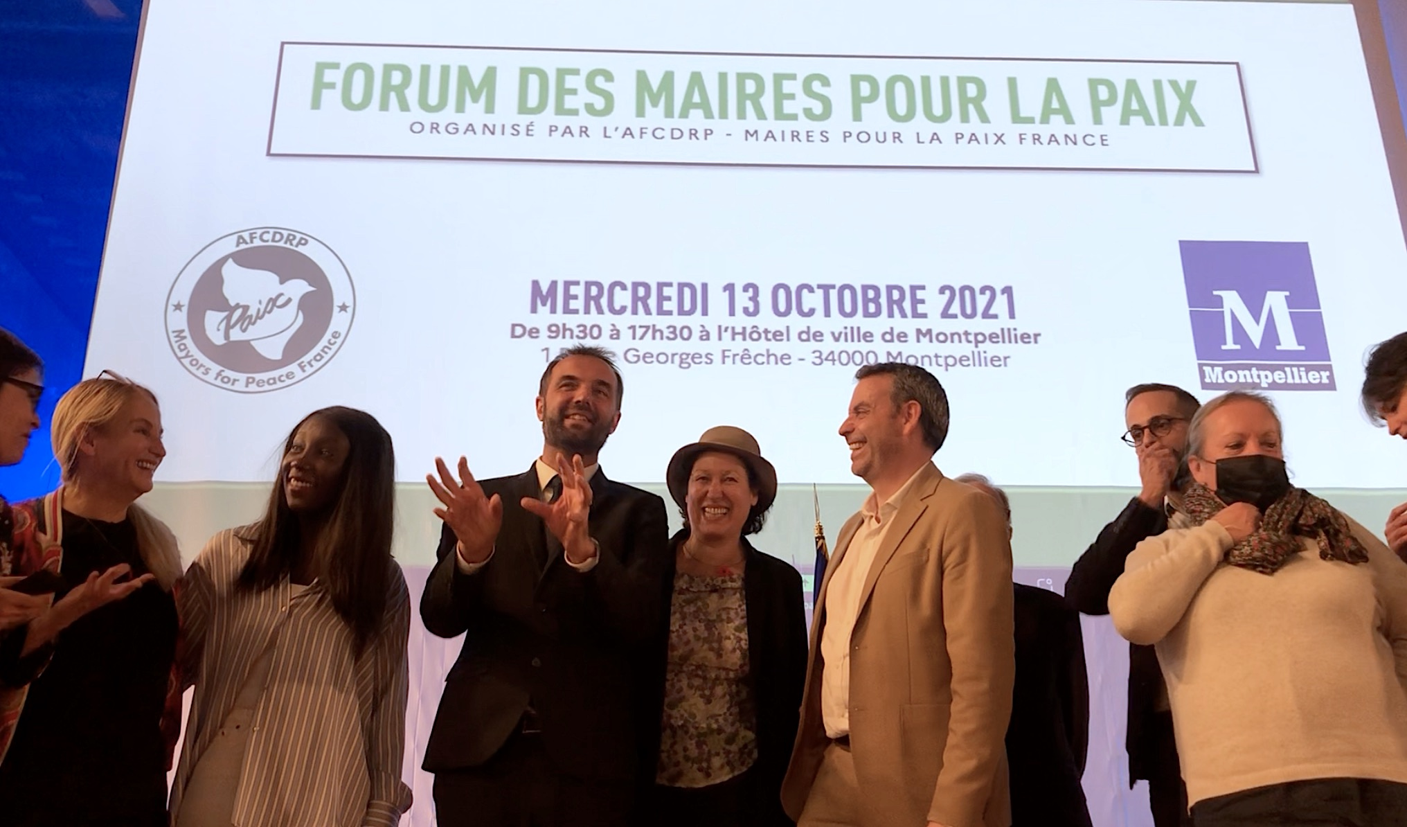 Montpellier, Forum des Maires pour la Paix - octobre 2021 (©JPV)