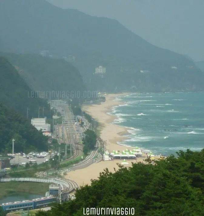 stazione Jeongdongjin guiness dei primati stazione di treni più vicina ad una spiaggia