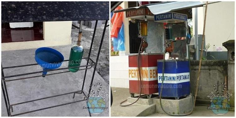 Benzina in bottiglia a Bali