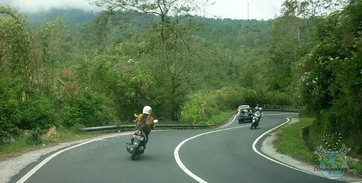 Strade di montagna a Bali , direzione Bedugul.