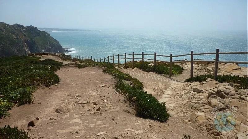 sentiero panoramico di Cabo da Roca in Portogallo