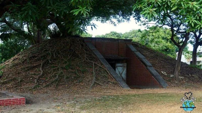 ingresso al bunker interratto di Kaohsiung