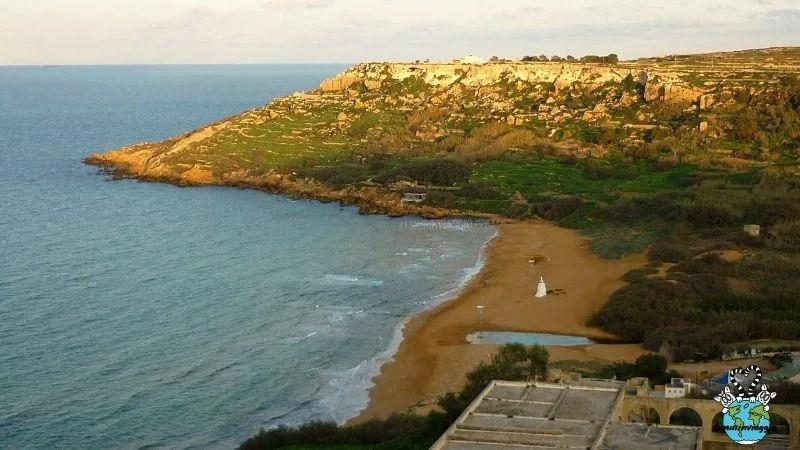 spiaggia di Ramla bay a Gozo