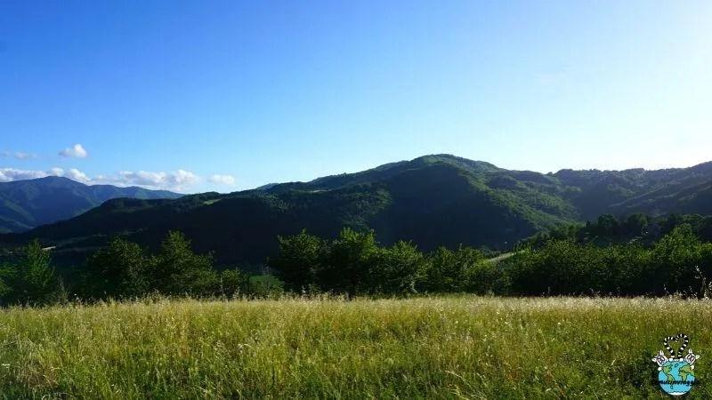 panorama delle colline romagnole