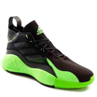 tenis adidas preto com verde