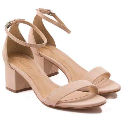 sandalia feminina de camurça schutz nude