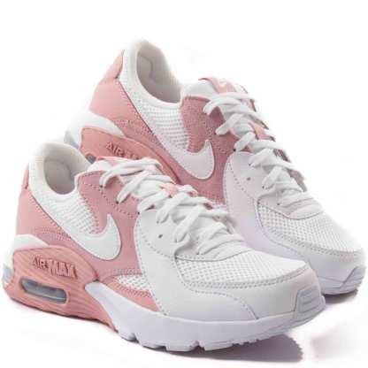 tenis nike air max branco e rosa feminino
