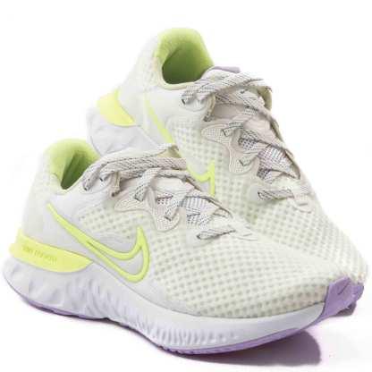 tenis nike feminino para corrida branco e neon