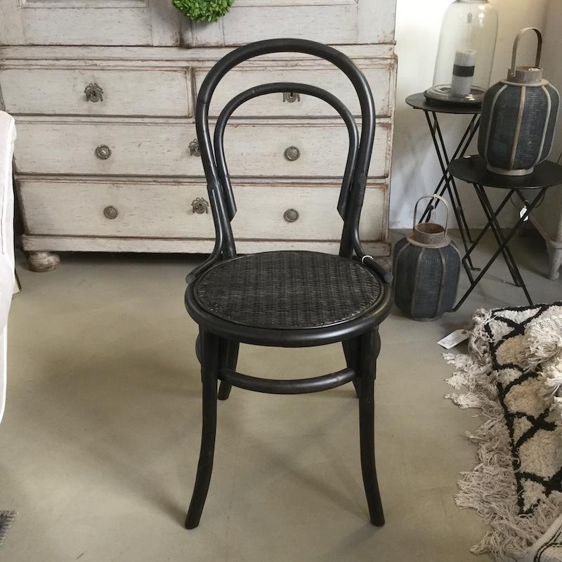 sedia legno nera