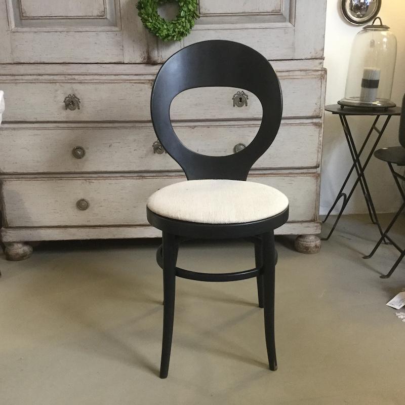 sedia nera anni '50 Francia