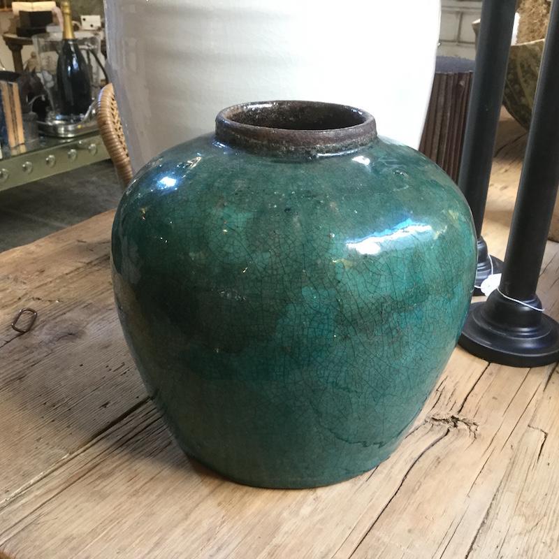 vaso vintage verde