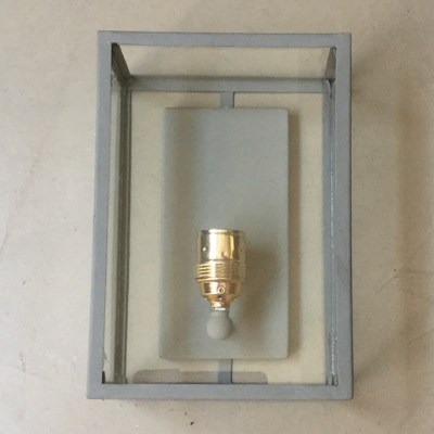 applique lampada parete ferro vetro