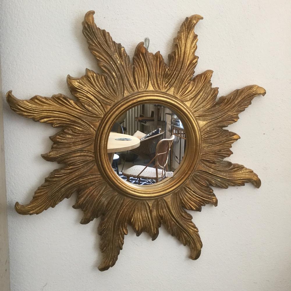 specchio sole dorato