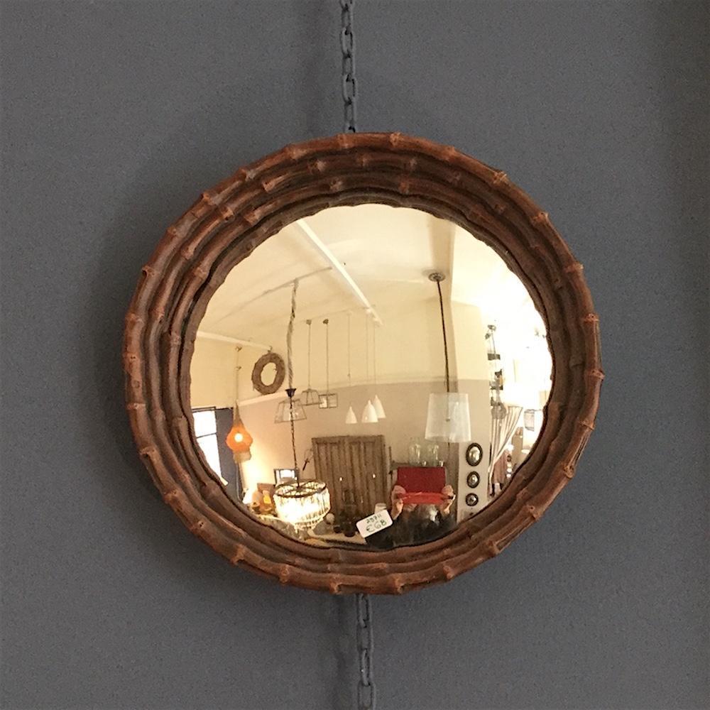 specchio convesso bambù