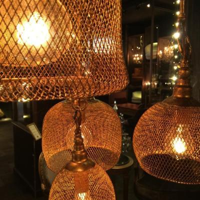 lampada dorata