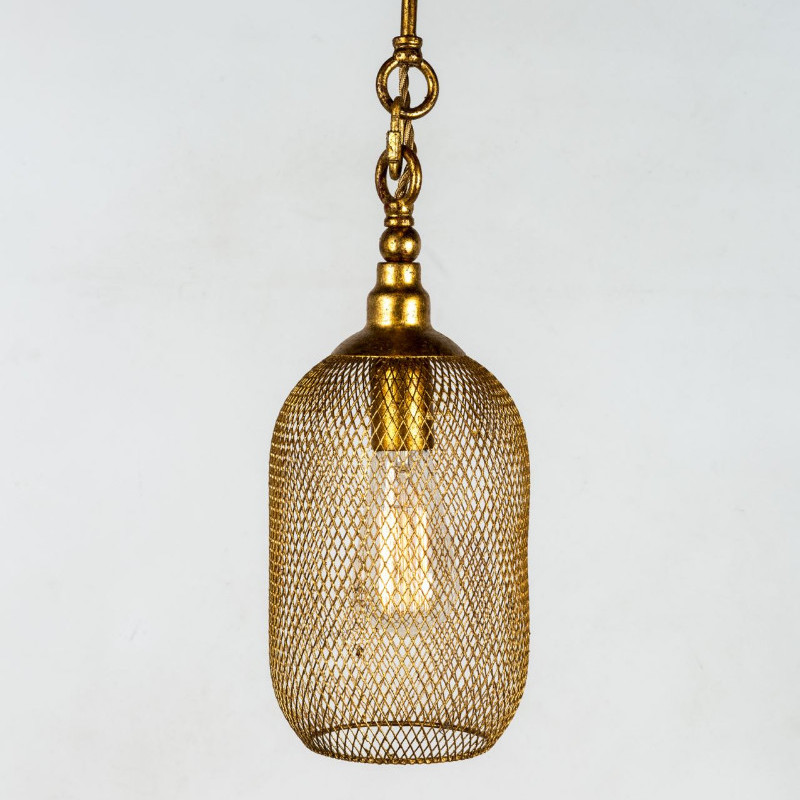 lampadario metallo oro Kimi C