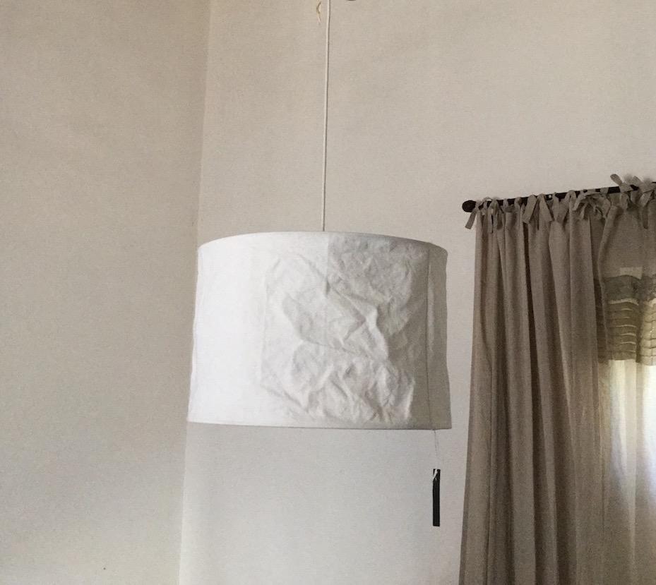 lampadario tela vintage