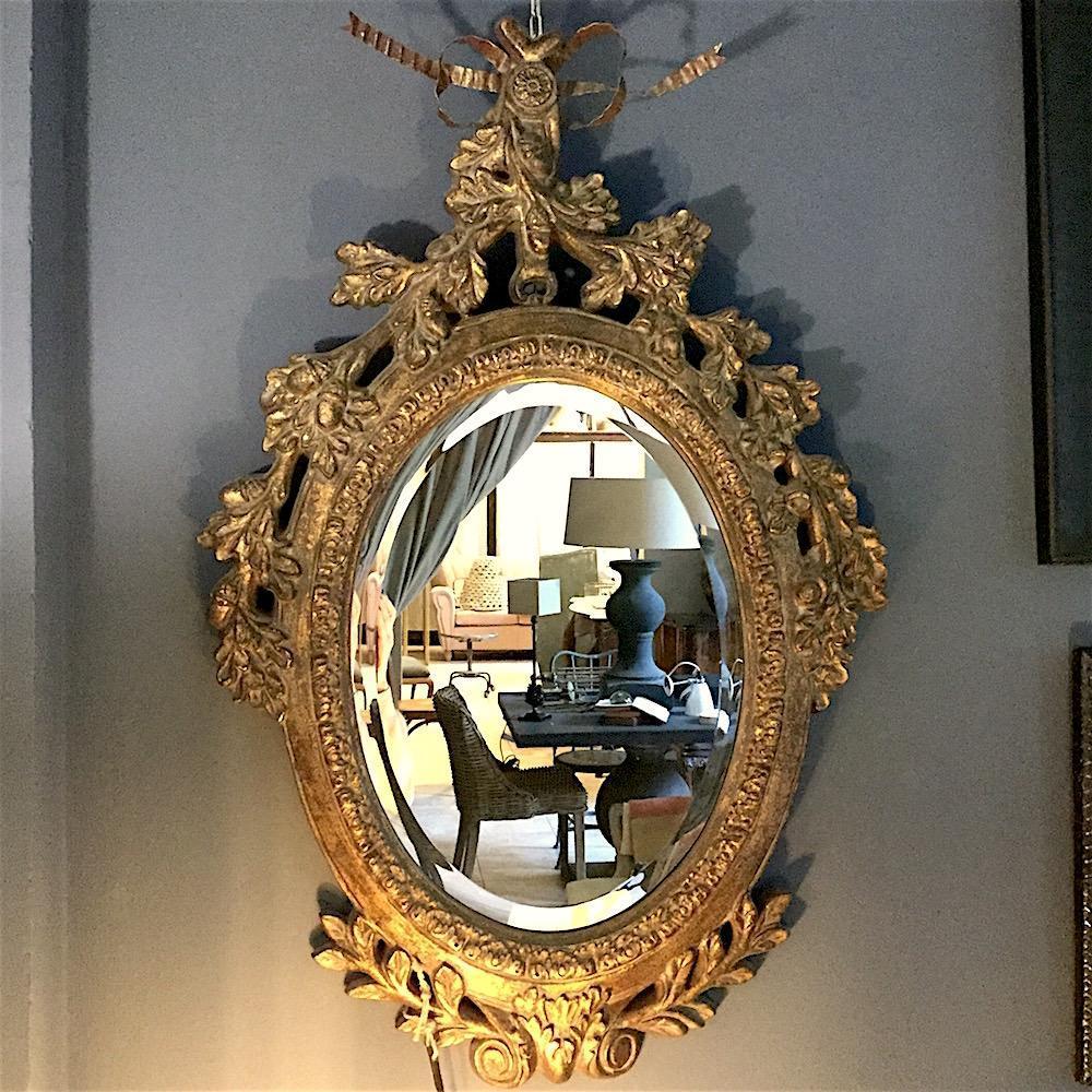 specchio barocco dorato