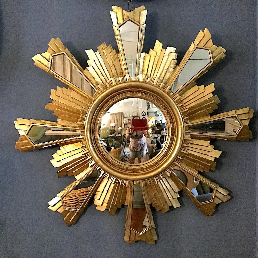 specchio sole oro convesso F
