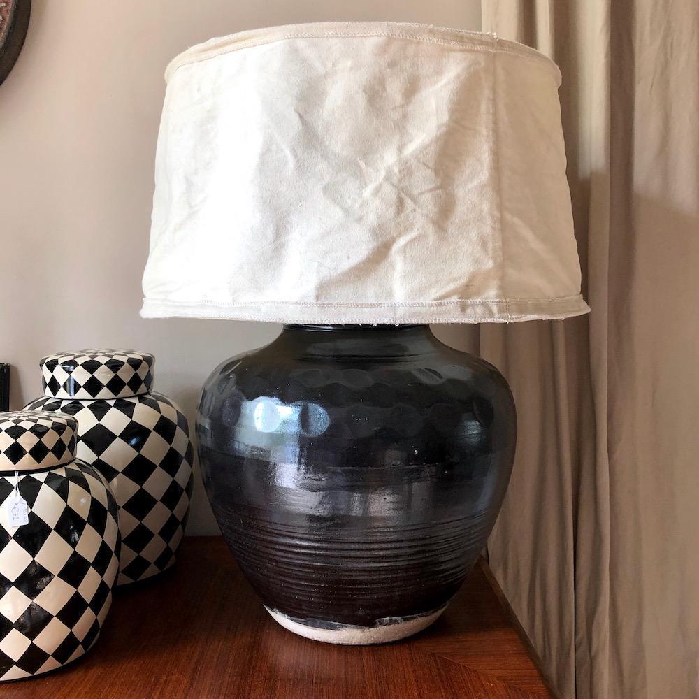 lampada ceramica nera fl