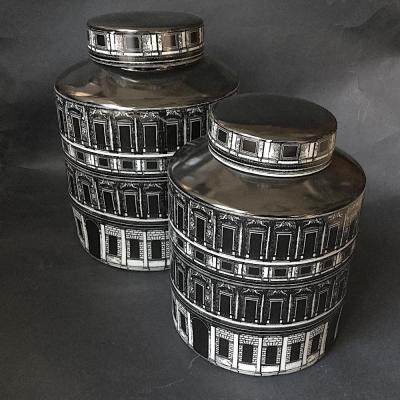 vaso Firenze ceramica bianco nero