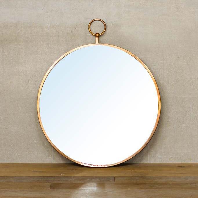 specchio tondo anello
