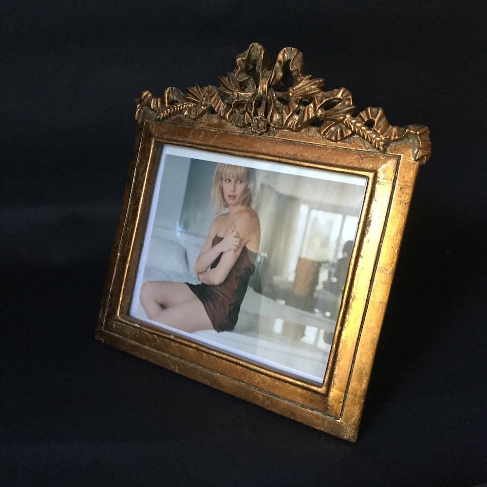 porta foto fiocco oro