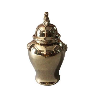 vaso ceramica oro