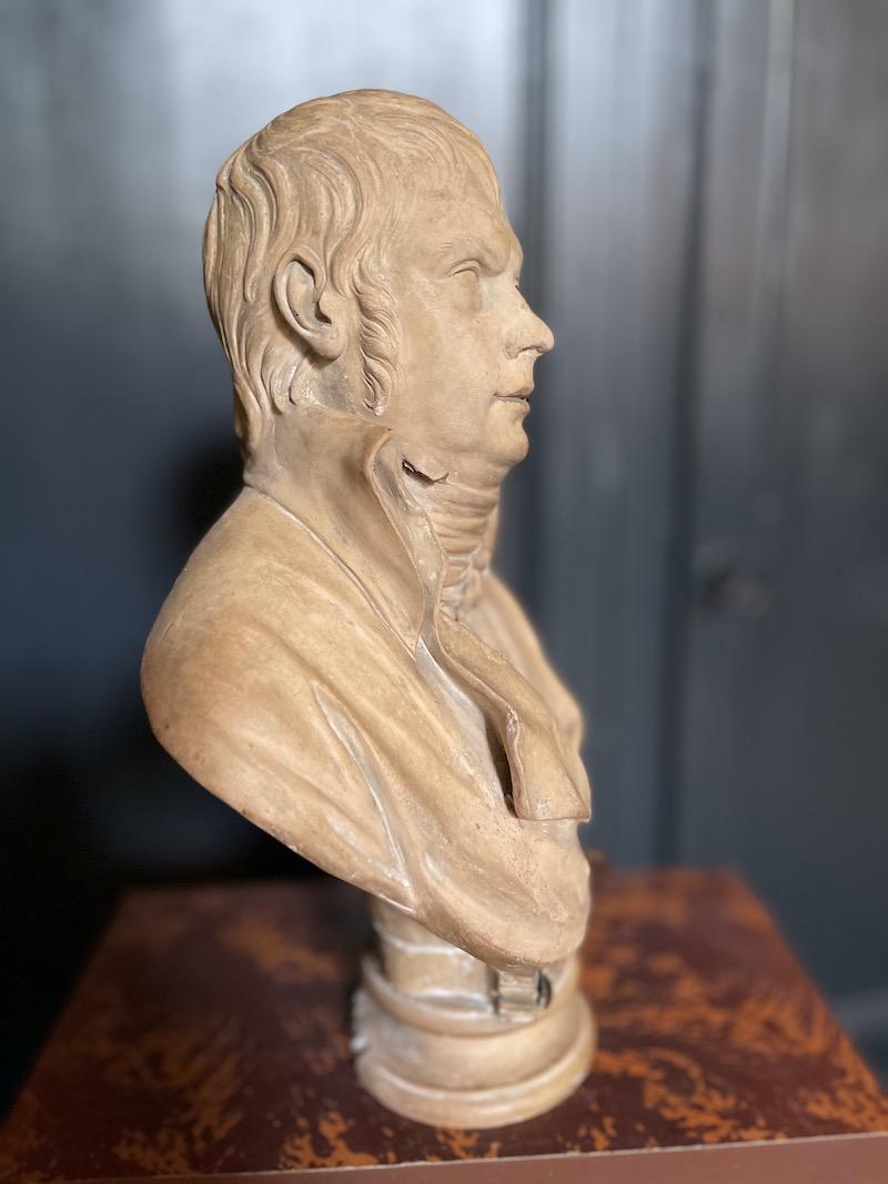 scultura terracotta mezzo busto