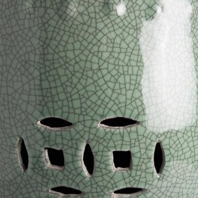 sgabello verde craquele