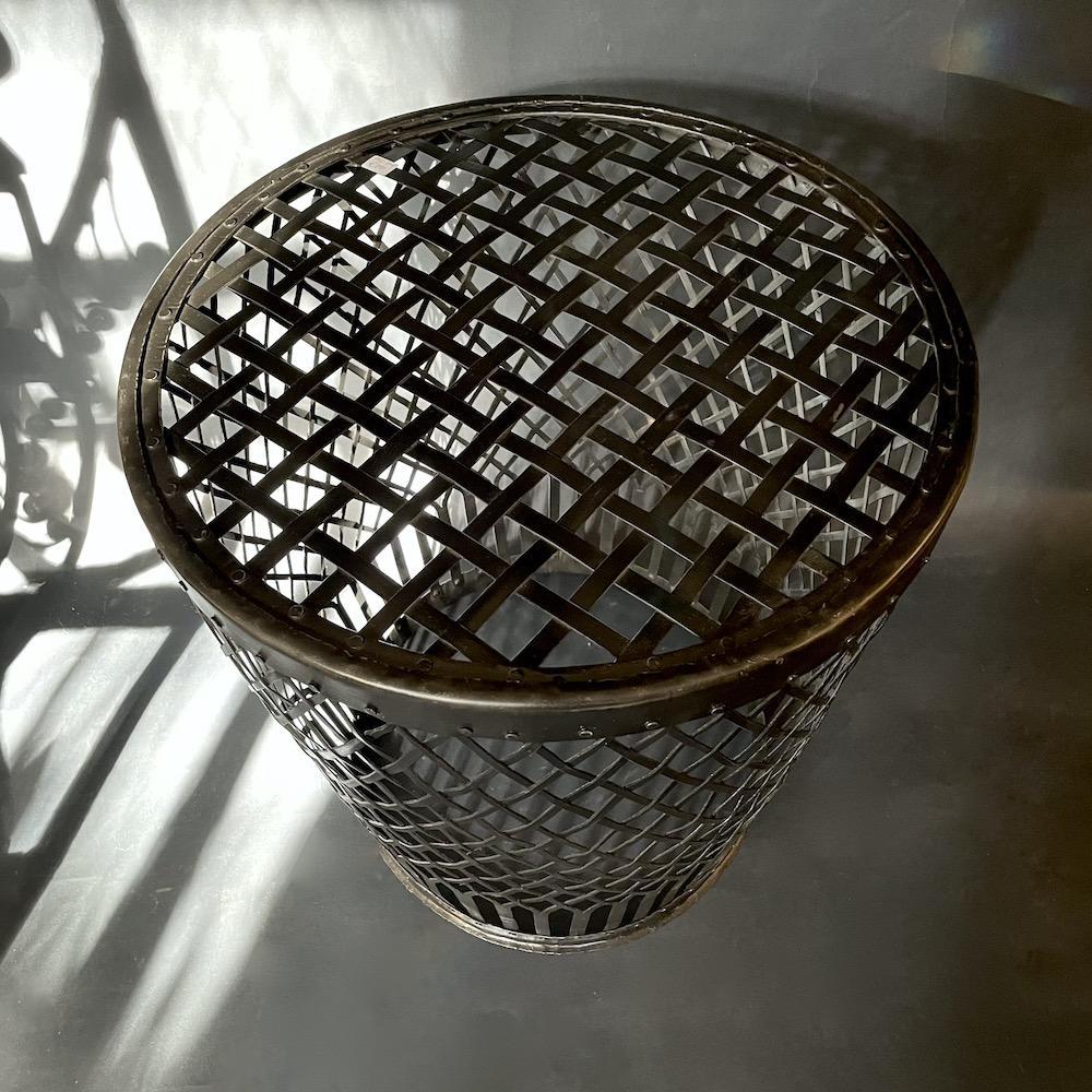 tavolino ferro intrecciato