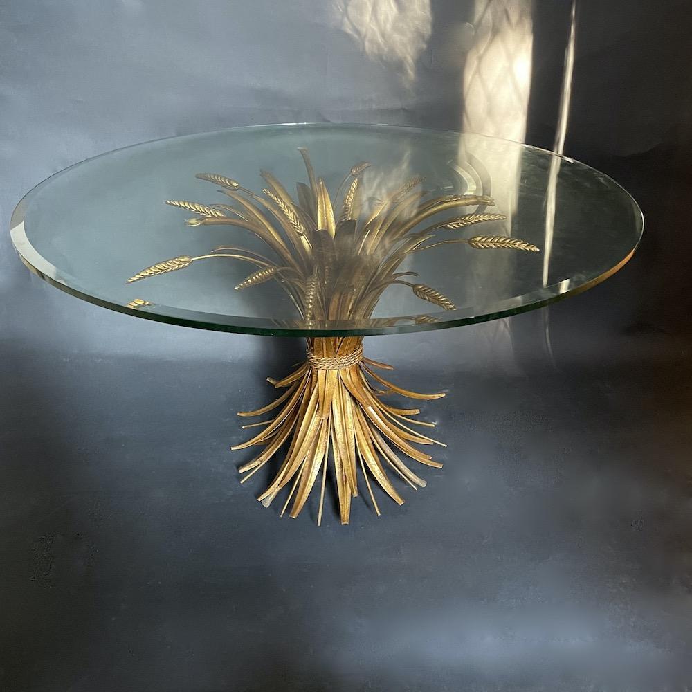 Tavolino vintage Gerbe de Blé oro 2