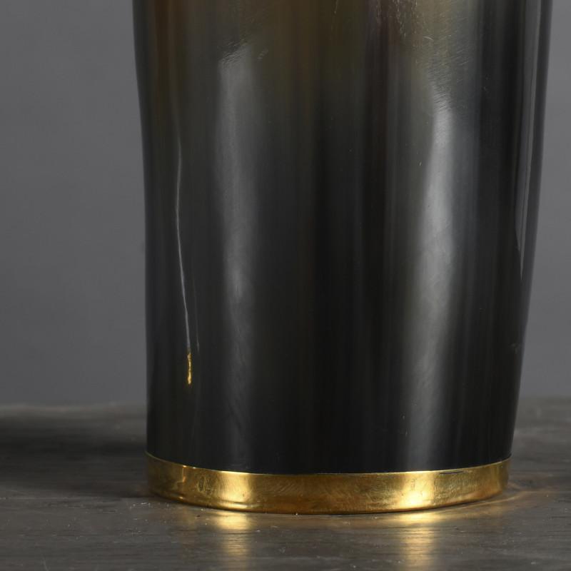 bicchieri corno e metallo