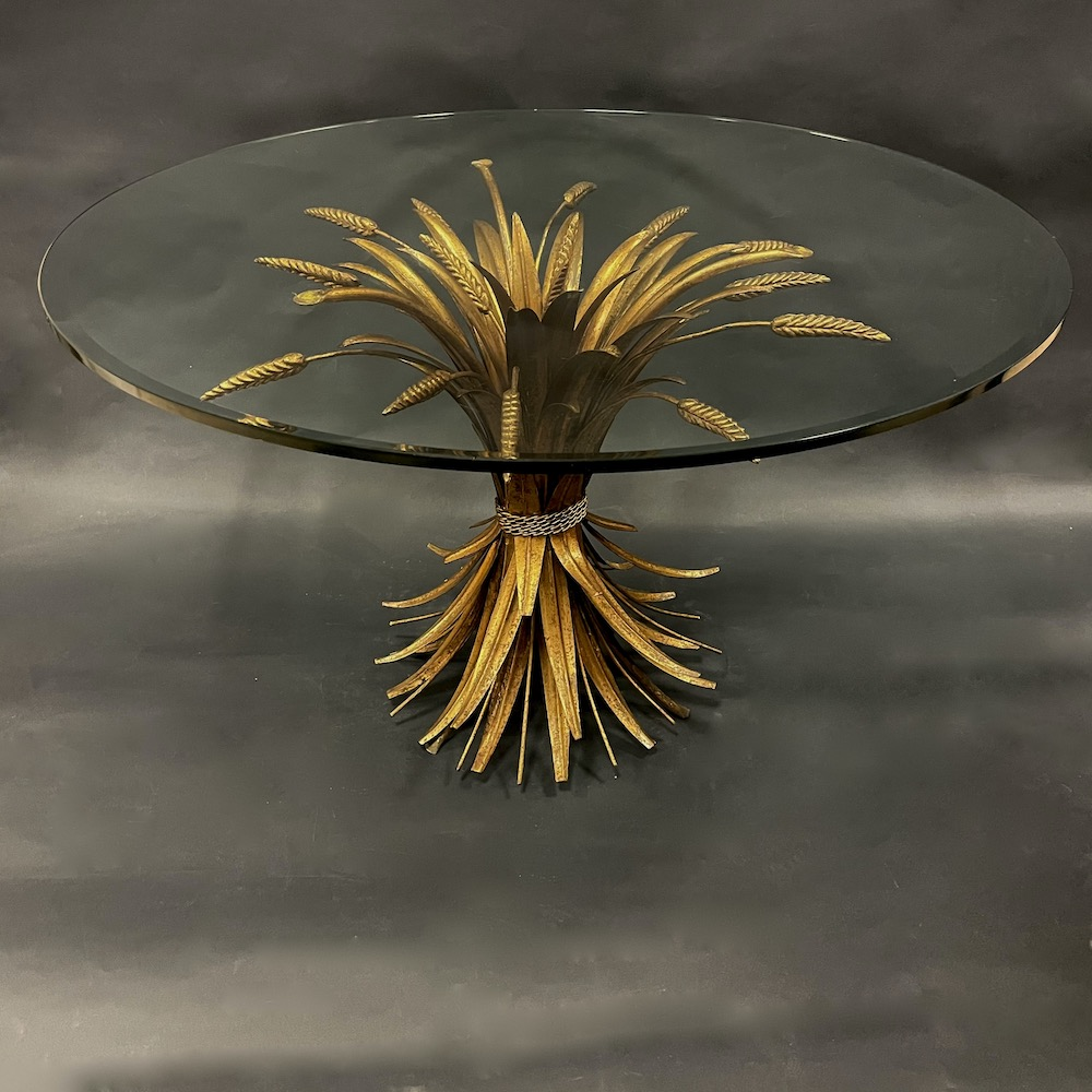 coffee table metallo oro