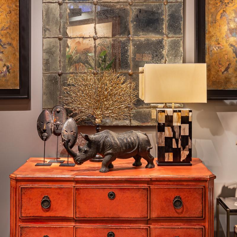 rinoceronte terracotta