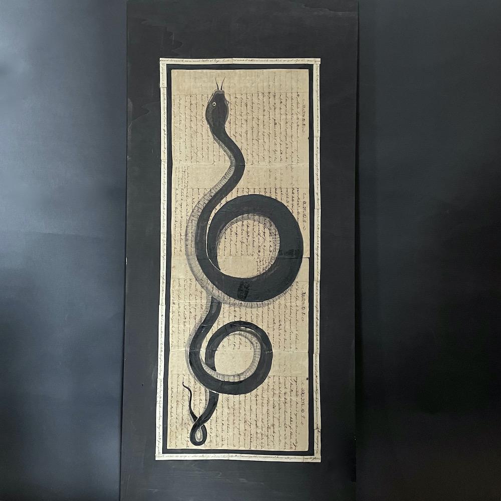 serpente dipinto a china