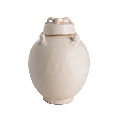 vaso ceramica bianca nodi