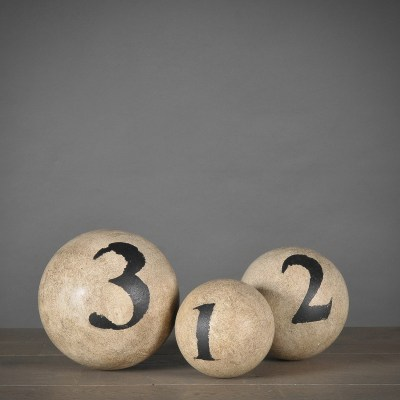 set 3 palle numerate