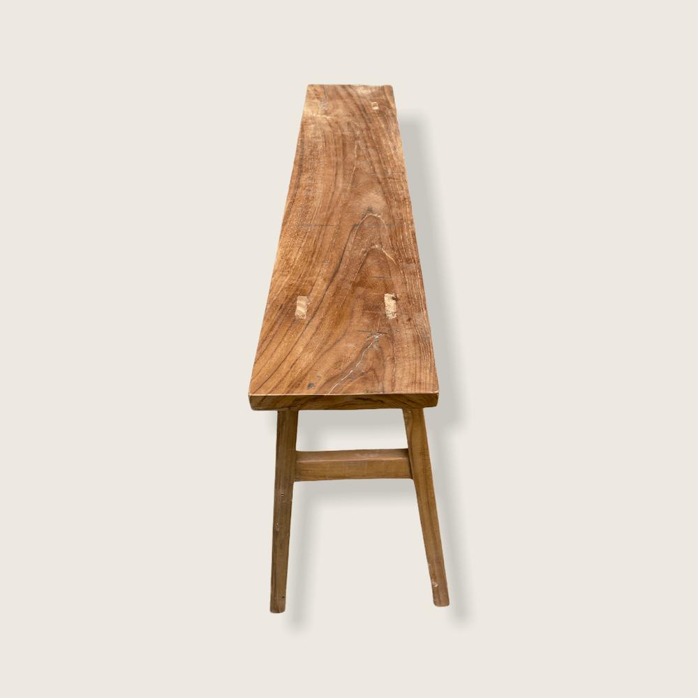 piccola panca legno naturale