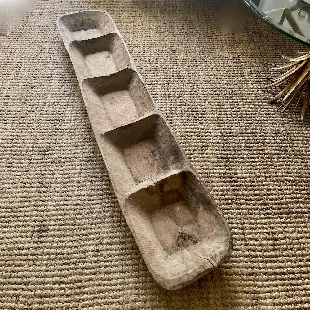 ciotola lunga legno vintage