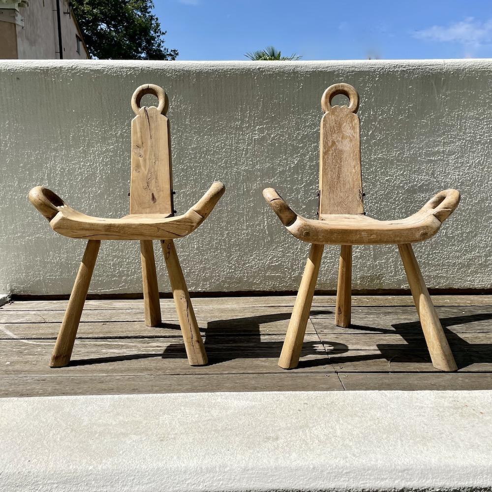 sgabello artigianale legno