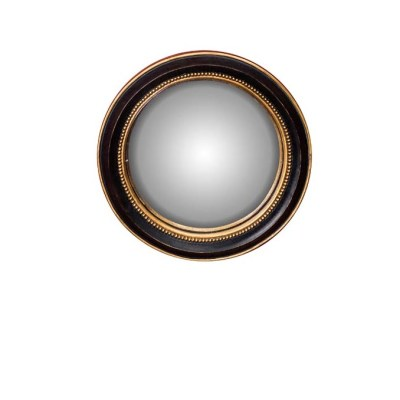 specchio convesso D18 nero oro