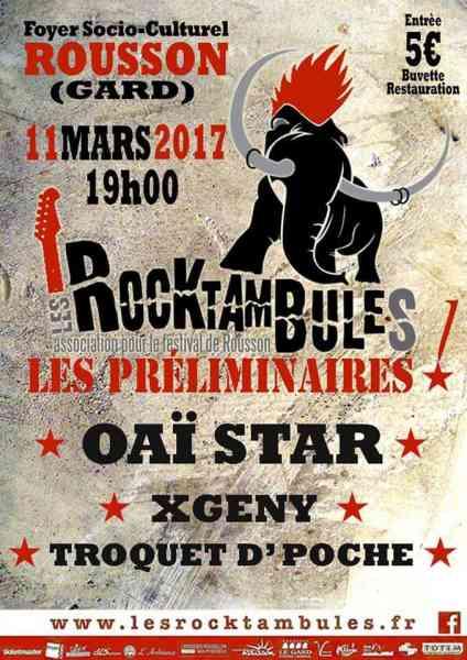 Rocktambules Préliminaires 2017 Oai Star