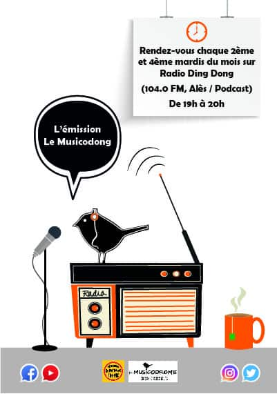 Le Musicodrome « On Air » sur Radio Ding Dong / Podcast ici